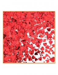 Metallic rode hart confetti 14 gr