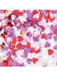 Veelkleurige harten confetti 14 gram