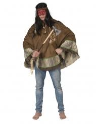Luxe indianen poncho voor volwassenen