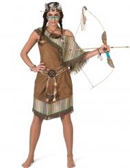 Luxe bruine indianen kostuum voor dames