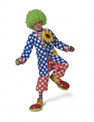 Lange clownsjas met stippen voor kinderen