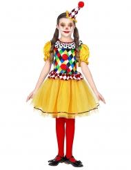 Veelkleurig geruit clown kostuum voor meisjes