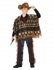 Cowboy kostuum met poncho voor jongens
