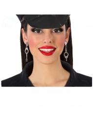 Politie handboeien oorbellen voor dames