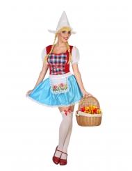 Hollands kaasmeisje kostuum voor dames