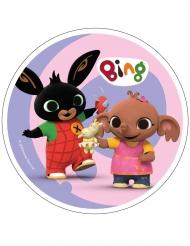 Bing™ eetbare taartdecoratie - roze 21 cm