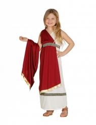 Rood Romeins prinsessen kostuum voor meisjes