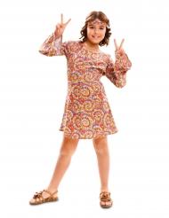 Psychedelisch hippie kostuum voor meisjes