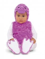 Kleine lila eend kostuum voor baby