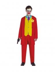 Rode joker clown kostuum voor tieners