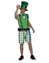 Iers kostuum met bierriem voor volwassenen