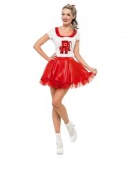 Grease™ cheerleader kostuum voor vrouwen