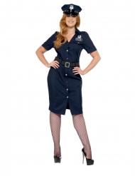 NYC politie kostuum voor dames - Grote maten