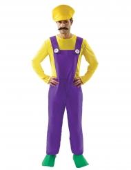 Geel met paars loodgieter kostuum voor mannen