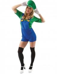 Kort groen loodgieter kostuum voor dames