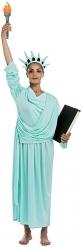 Blauw vrijheidsbeeld kostuum voor volwassenen
