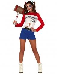 Dangerous girl harlekijn kostuum voor dames