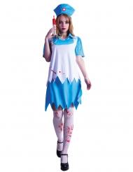 Bloederig verpleegster kostuum voor dames