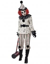 Spookachtig clown kostuum voor volwassenen