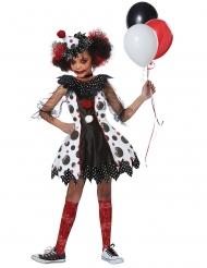 Angstaanjagende clown kostuum voor meisjes
