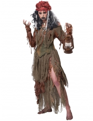 Voodoo heksen kostuum voor dames