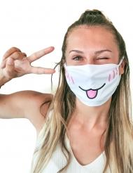 Mondmasker met kattenprint voor volwassenen