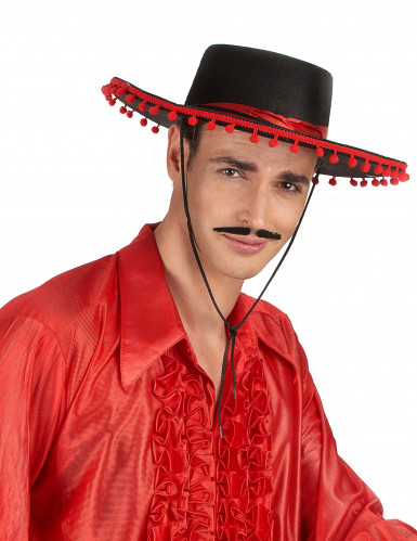 Spaanse hoed in zwart en rood-1