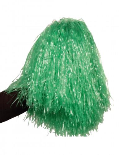 Groenmetaalkleurige pompon