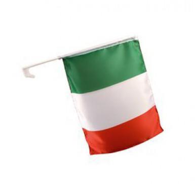 Vlag voor in de wagen voor Italiaanse supporters