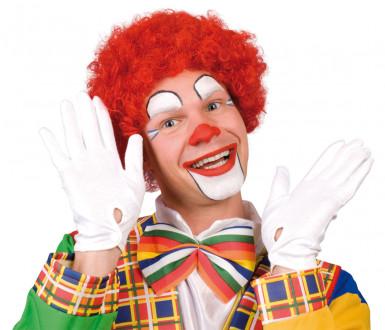 Rode afro clownspruik voor volwassenen