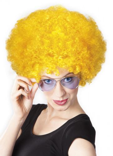 Gele afro discopruik voor volwassenen-1