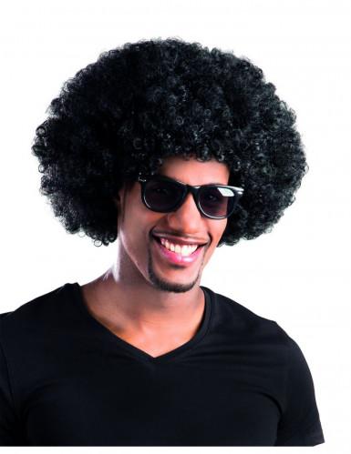 Zwarte afro / clown pruik voor volwassenen