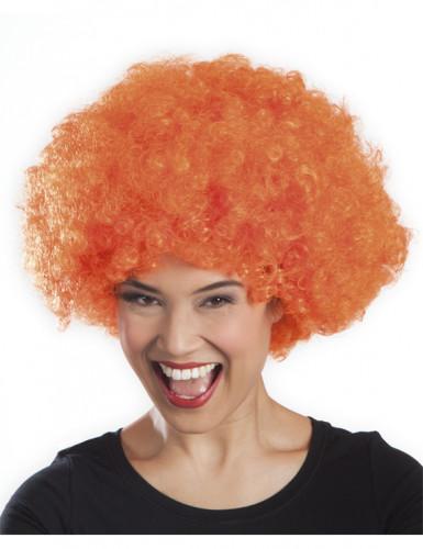Oranje disco afropruik voor volwassenen-1
