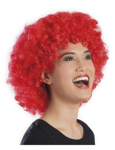 Rode afro / clown pruik voor volwassenen-1