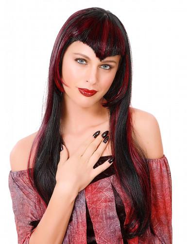 Rode vampierenpruik voor dames
