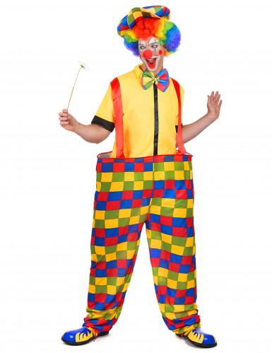 Wijde clown outfit voor mannen