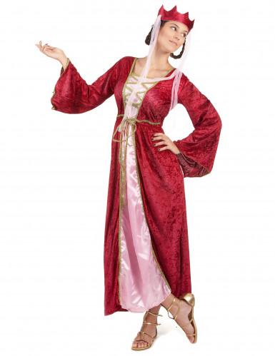 Middeleeuwse koningin kostuum voor dames