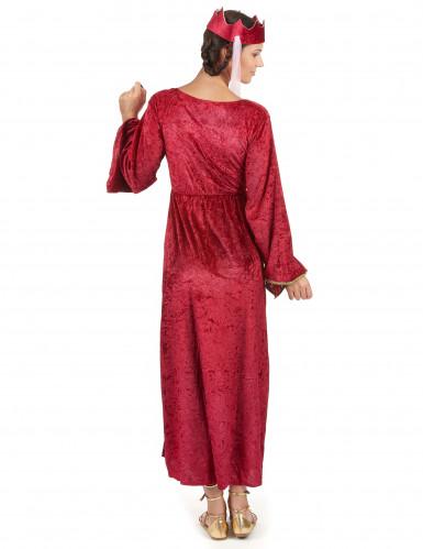Middeleeuwse koningin kostuum voor dames-2