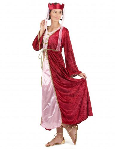 Middeleeuwse koningin kostuum voor dames-1