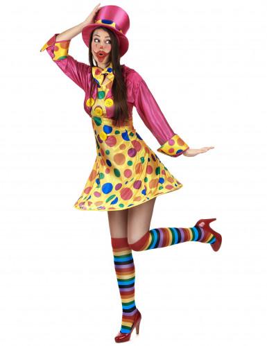 Clownskostuum met grote stippen voor vrouwen-1