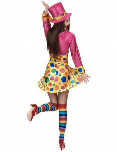 Clownskostuum met grote stippen voor vrouwen-2