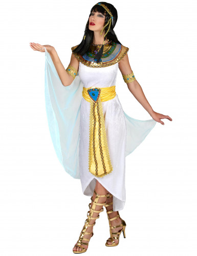 Egyptische koningin outfit met sluier voor vrouwen-1