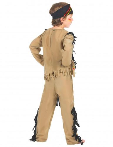 Indianen kostuum met zwarte franjes voor jongens-2