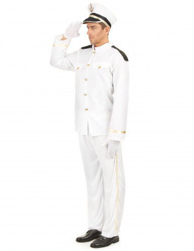 Wit zeeman kapitein kostuum voor mannen-1