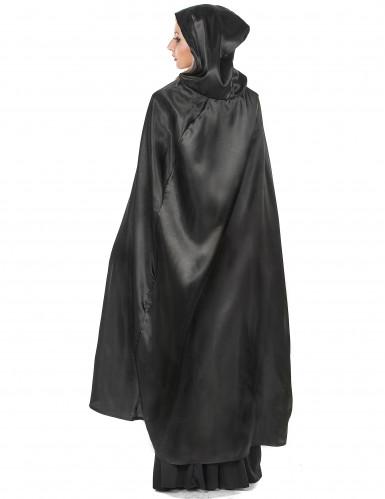 Zwarte Vampirella-cape voor volwassenen Halloween-2
