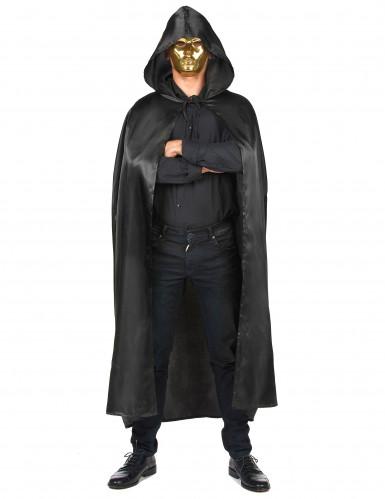 Zwarte Vampirella-cape voor volwassenen Halloween-3