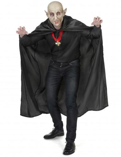 Zwarte Vampirella-cape voor volwassenen Halloween-4