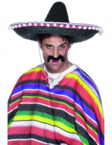 Mexicaanse sombrero met bolletjes voor volwassenen