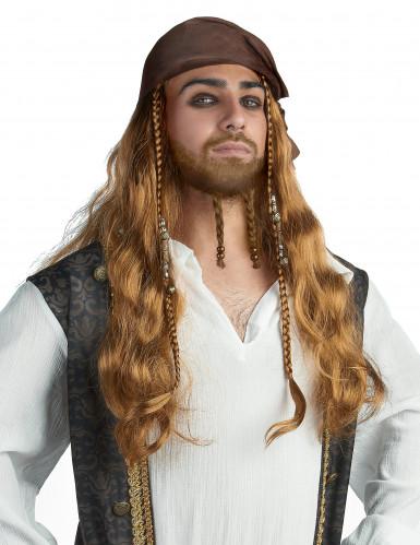 Pruik van Jack de piraat voor mannen