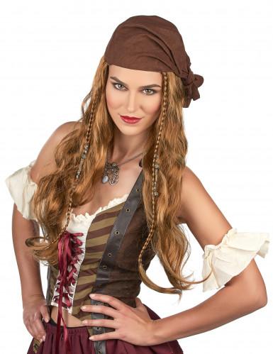 Pruik van Jack de piraat voor mannen-1